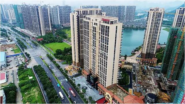桂林临桂新区楼盘_据悉,桂林临桂希尔顿欢朋酒店位于桂林最具发展潜力的临桂新区西城大